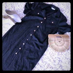 💙Pre-Loved💙Vintage Black linen Maxi